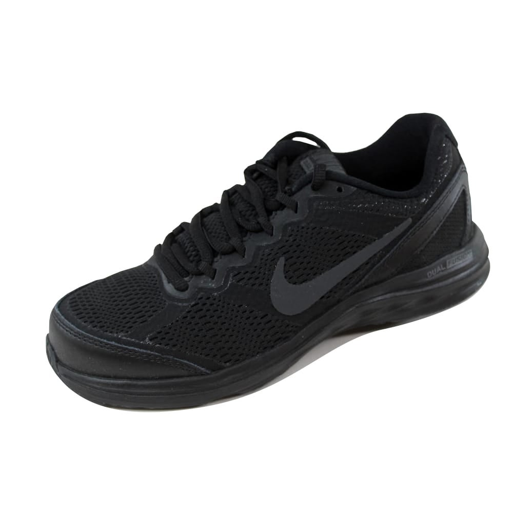 promo code 54d0f ce26b Shop Nike Women s Dual Fusion Run 3 Black Black-Anthracite653594-020 - On  Sale - Free Shipping Today - Overstock - 21141434