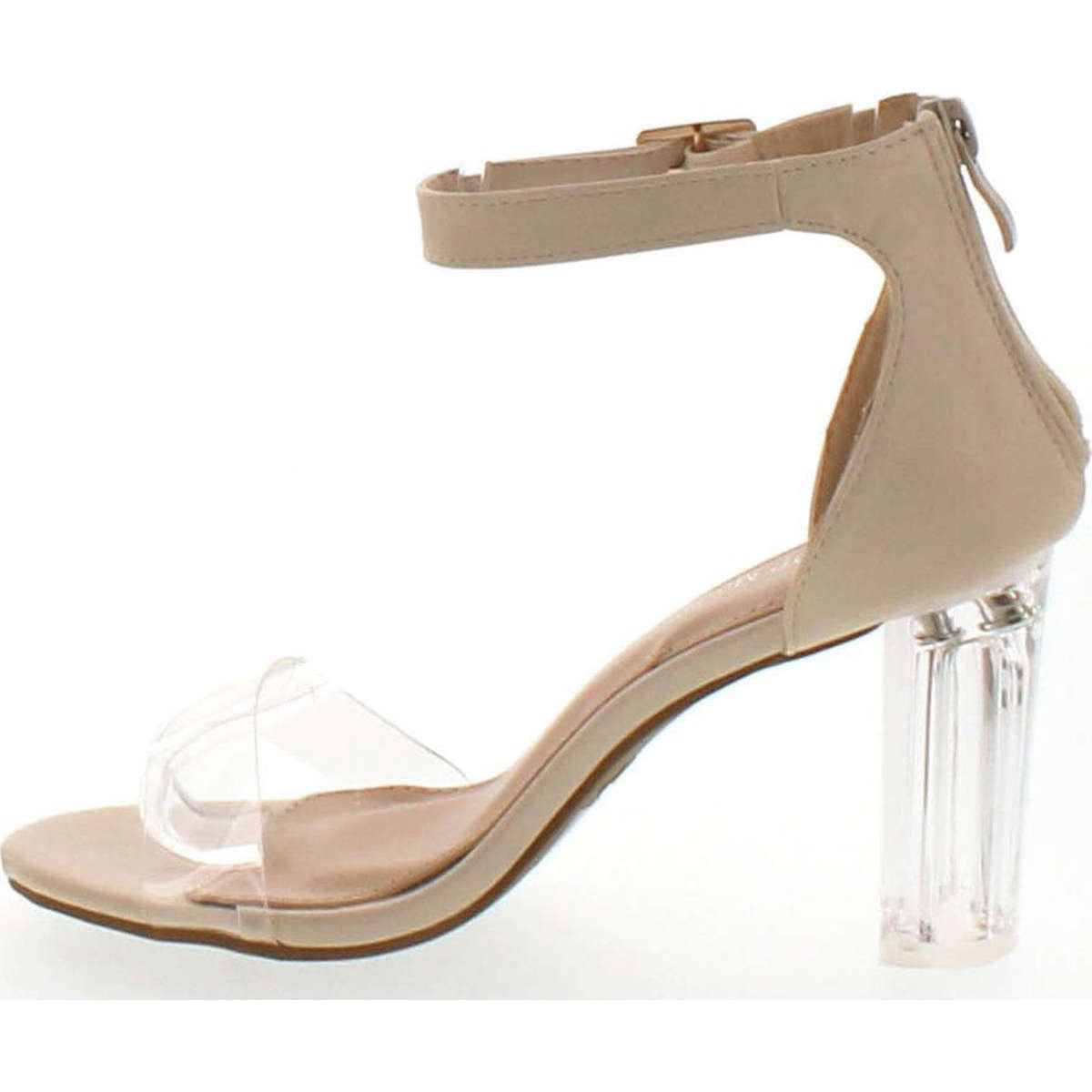 c32a75a5e Shop Top Moda Women's Alma-55 Lucite Clear Strappy Block Chunky High Heel  Open Peep Toe Sandal - Free Shipping On Orders Over $45 - Overstock -  14820352
