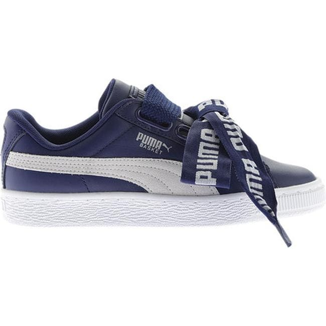 Shop PUMA Women s Basket Heart DE Sneaker Blue Depths PUMA White ... c5ba5938c