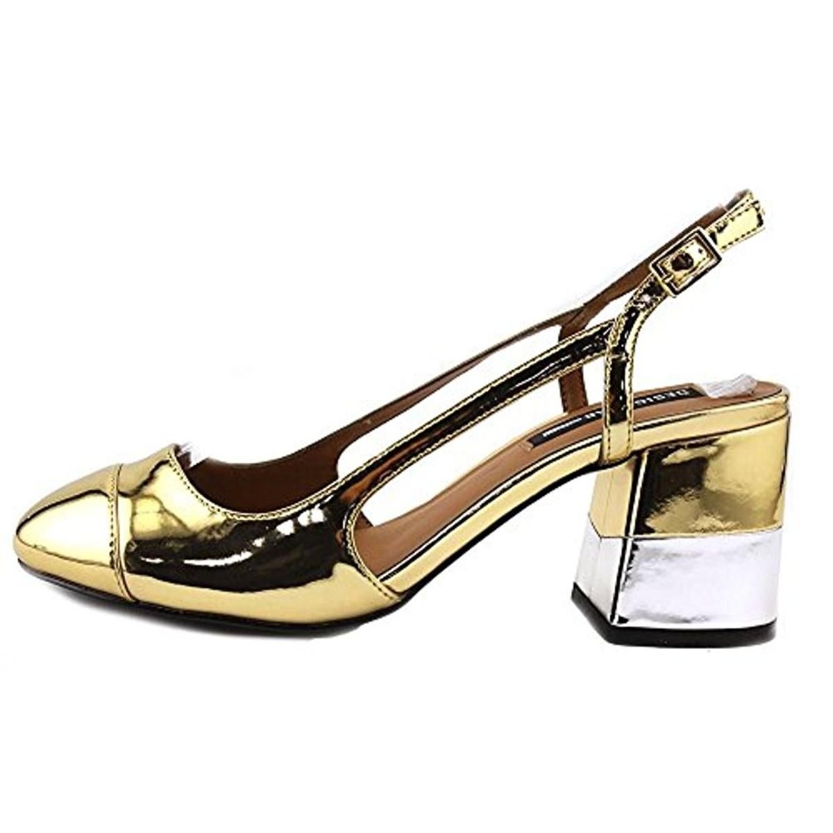 6915e9280c Shop Design Lab Womens Tifa Block Heels Metallic Slingback - Free Shipping  On Orders Over $45 - Overstock - 21137455