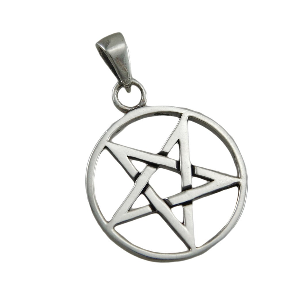 Shop sterling silver inverted pentagram pendant pentacle on sale shop sterling silver inverted pentagram pendant pentacle on sale free shipping on orders over 45 overstock 17755222 aloadofball Choice Image