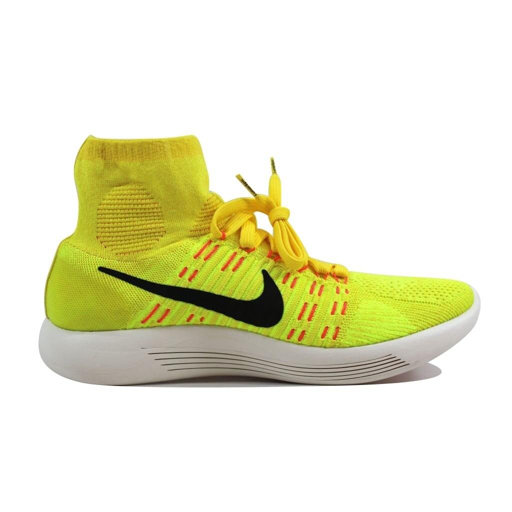 brand new e18bc 32dfb Nike Men's Lunarepic Flyknit Yellow Strike/Black-Volt-Hyper Orange nan  818676-700 Size 9