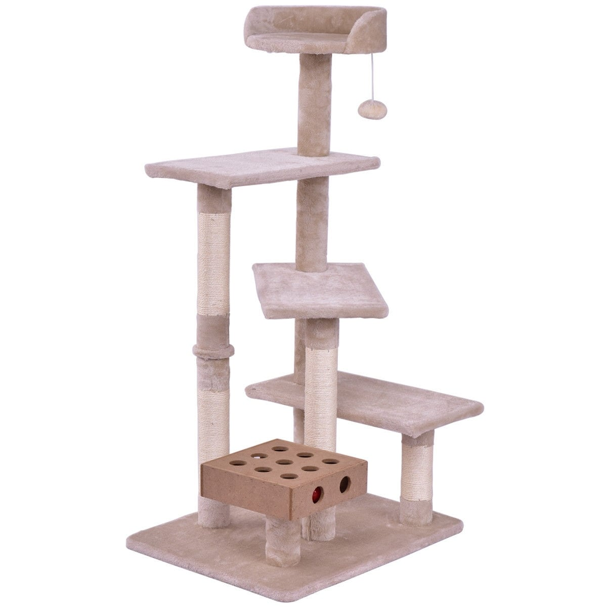 Gymax Pet Cat Tree Play House Tower Condo Bed Scratch Post Kitten Pet House  Tower   Free Shipping Today   Overstock   26105512