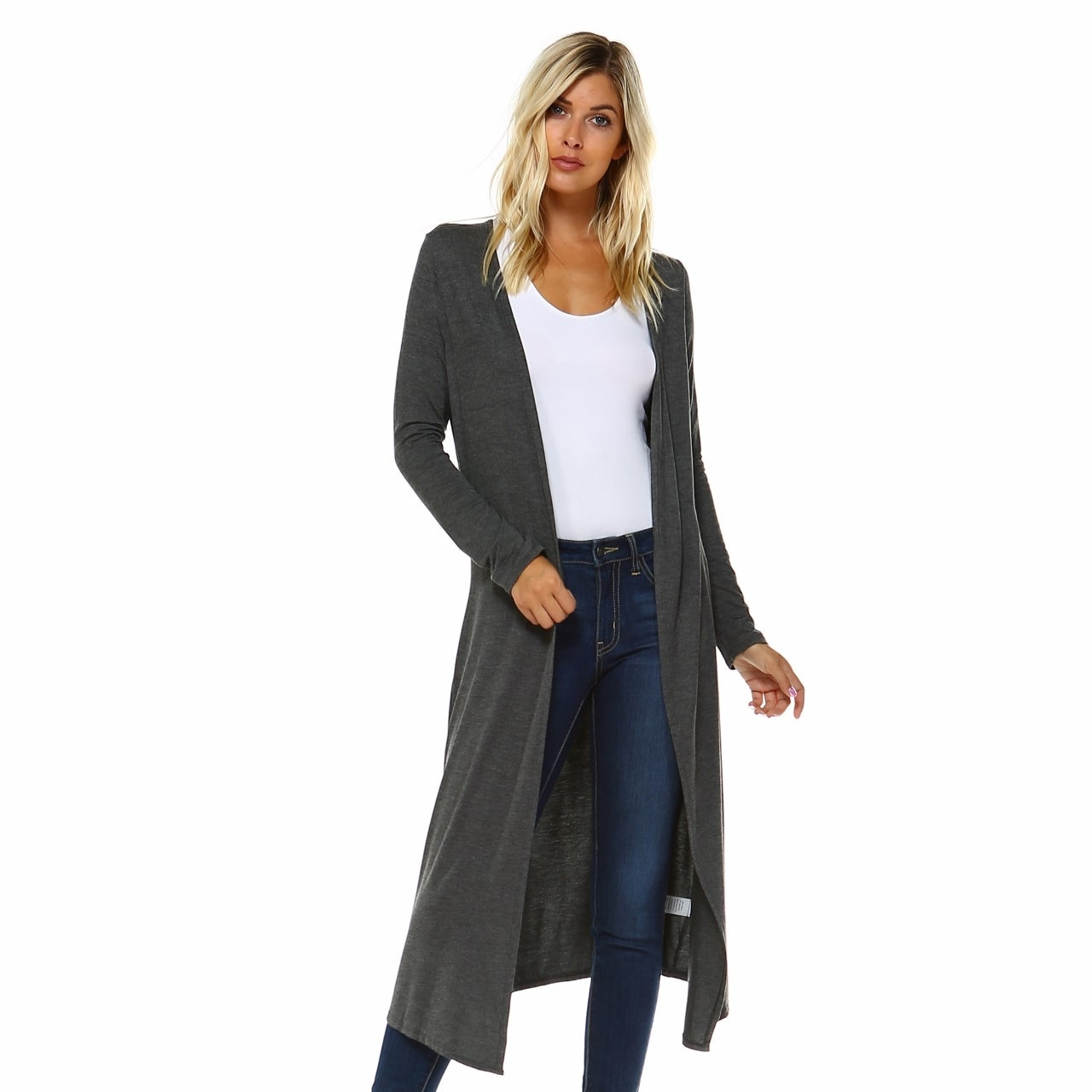 Shop Isaac Liev Extra Long Soft   Lightweight Open Front Flyaway Cardigan  Duster - Free Shipping On Orders Over  45 - Overstock - 12439326 25c123094