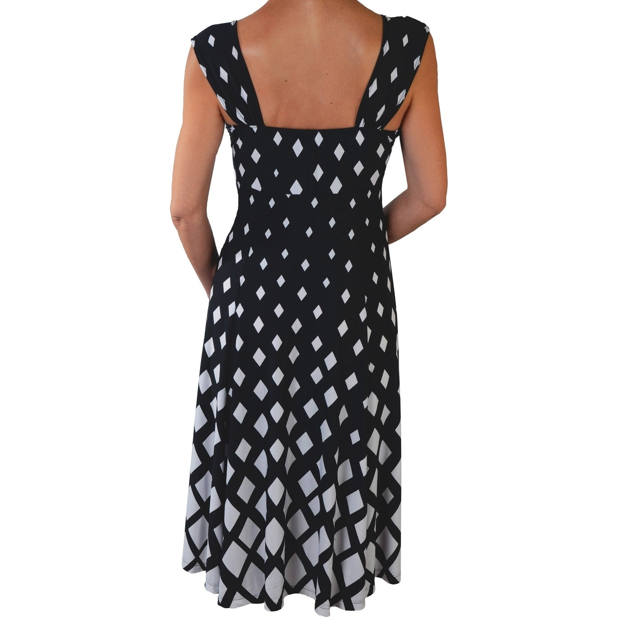 710faa073f3 Shop Funfash Plus Size Women Diamond White Black Cocktail Dress Made in USA  - Ships To Canada - Overstock.ca - 14019375