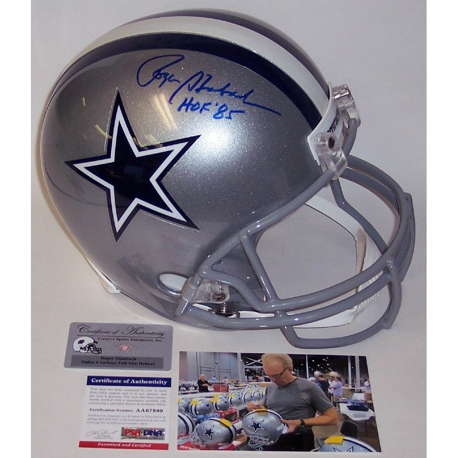 Shop roger staubach autographed hand signed dallas cowboys full size helmet  psadna free shipping today jpg 6674547d5