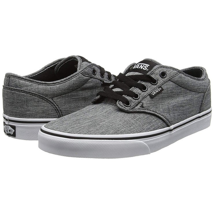 92c4f993f3bd6 Shop Vans Mens M Atwood Rock Shoes Textile Black White Size 7.5 - Free  Shipping Today - Overstock - 25631341