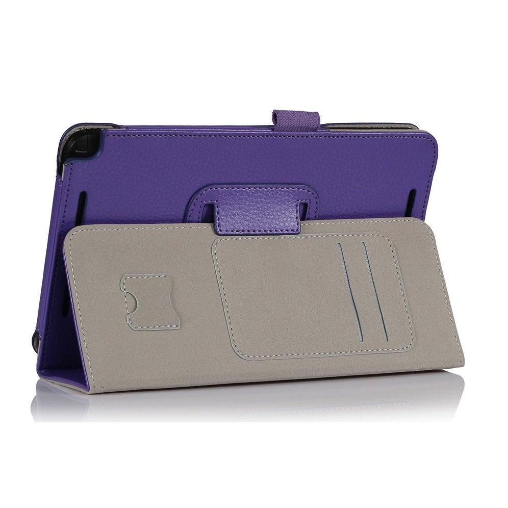 i-BLASON-Asus VivoTab Note 8 Case - Leather Book Cover with Bonus Stylus -  Purple