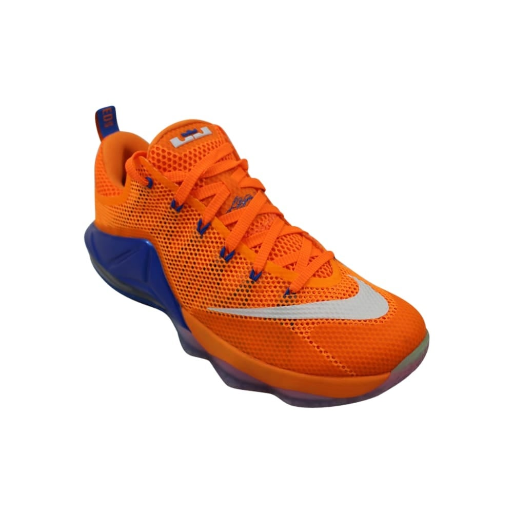 092a78ae8597 Shop Nike Lebron XII 12 Low Bright Citrus White-Total Orange-Soar 724557-838  Men s - Free Shipping Today - Overstock - 27993568