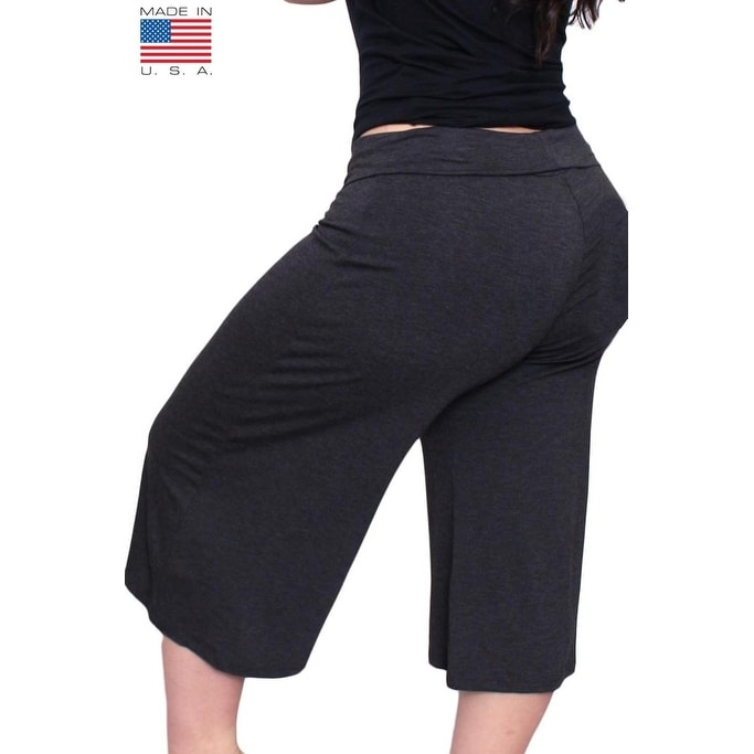 498298acb1ade Shop Plus Size Women s Gaucho Pants 3 4 Long Palazzo Pants Loose Fit Waist  Band 1XL 2XL 3XL More Colors Available - Free Shipping On Orders Over  45  ...