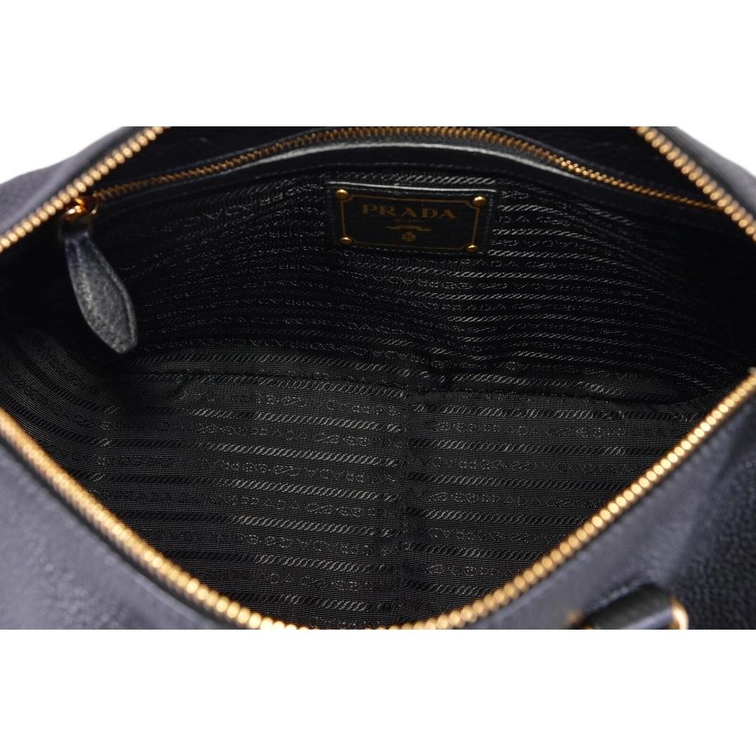 f778bb4a8c Shop Prada 1BB023 Black Vitello Phenix Leather Bauletto Boston Bag Satchel  Purse - On Sale - Free Shipping Today - Overstock - 26970544