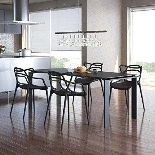 Shop 2xhome Set Of 4 Modern Contemporary Plastic Stackable Design Masters  Chair Dining Arm Chairs Outdoor Living Room Patio Garden   Free Shipping  Today ...