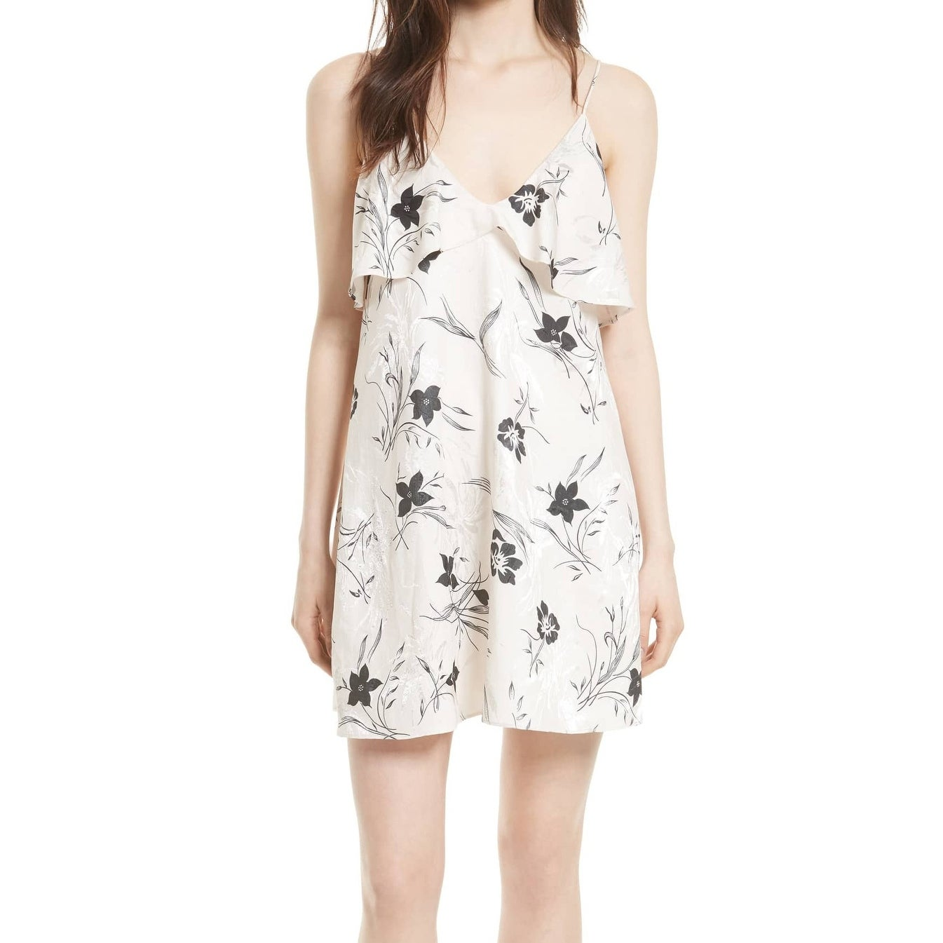 98ccb376f826 Shop Alice + Olivia Womens Large Floral-Print Slip Dress - Free ...