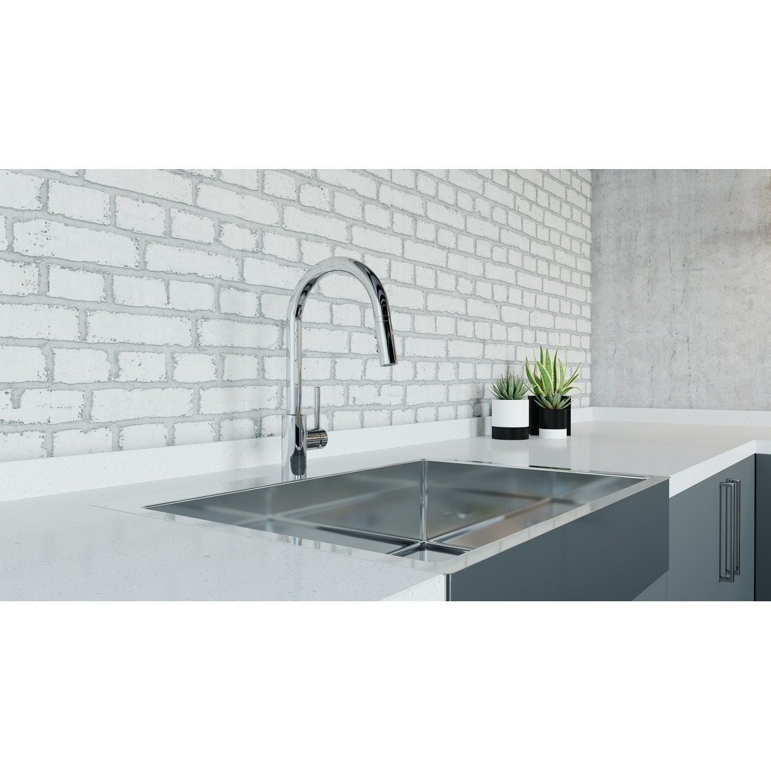 Shop pfister lg529 esa stellen pull out spray kitchen faucet with react touchless technology free shipping today overstock 21138034