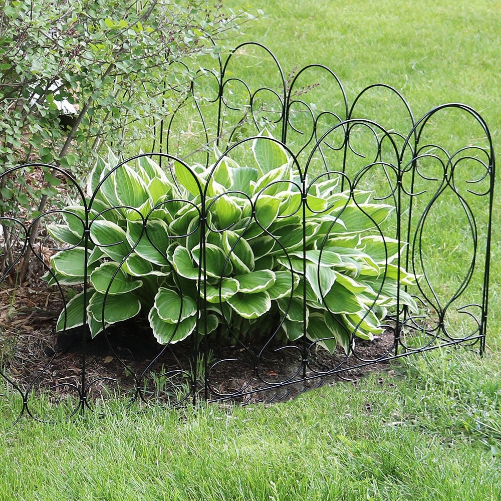Shop Sunnydaze Border Fence Panels, Set Of 5   Style Options Available    Free Shipping On Orders Over $45   Overstock.com   12032215