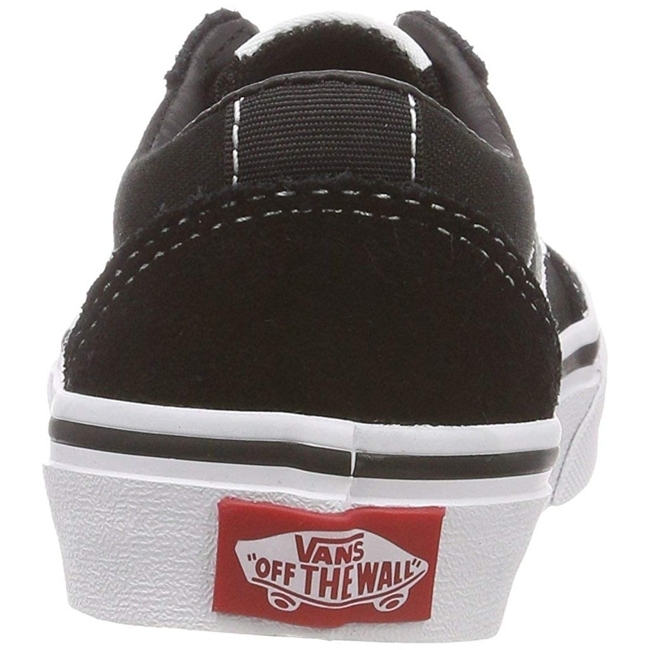 fd5d93ec6a9034 Shop Vans Kids Ward Lo Canvas Shoes Black White 5.5 M Us - Free Shipping On  Orders Over  45 - Overstock - 26477654