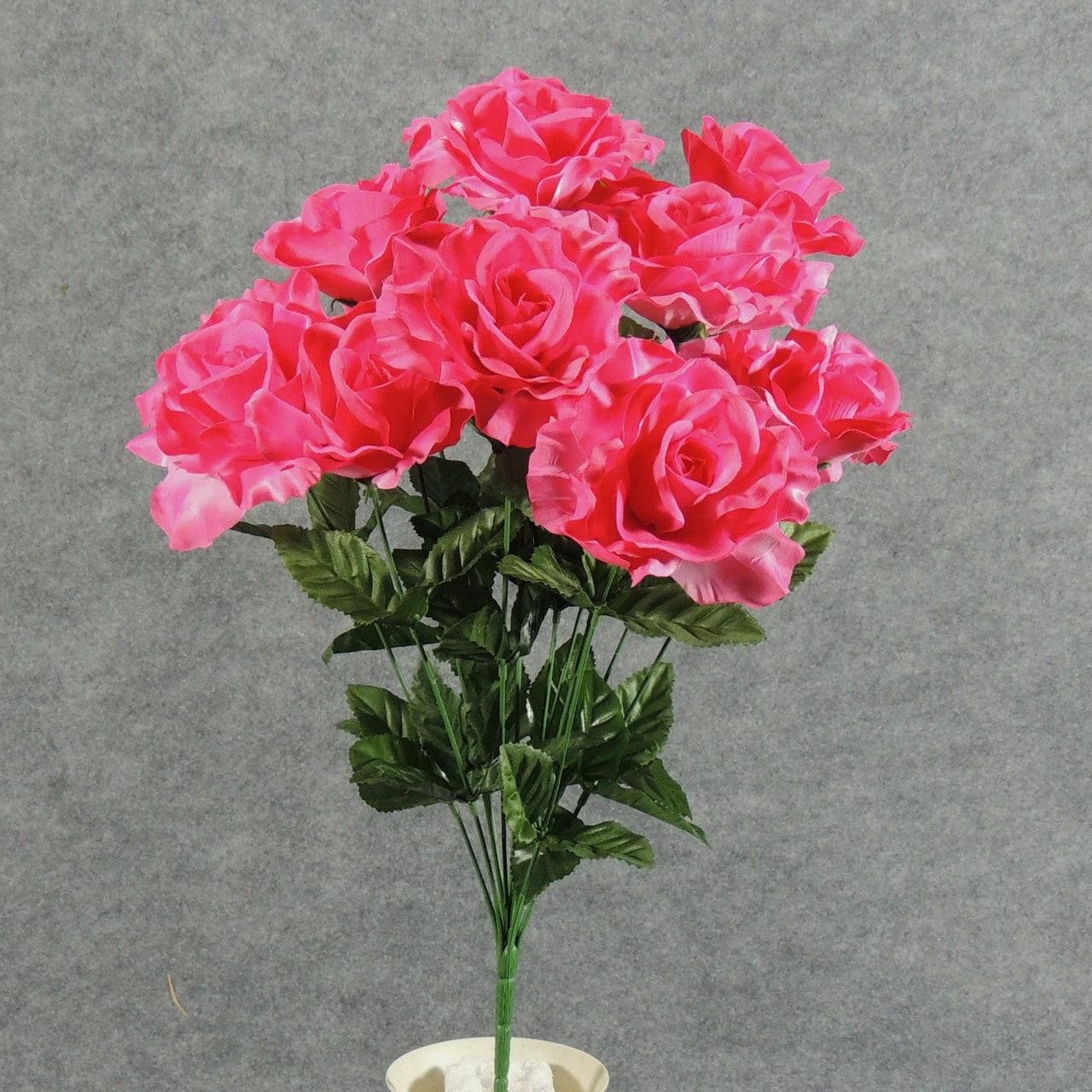 Shop 1 Pc 20 Inch Artificial Open Rose Bush W12 Blooms Add