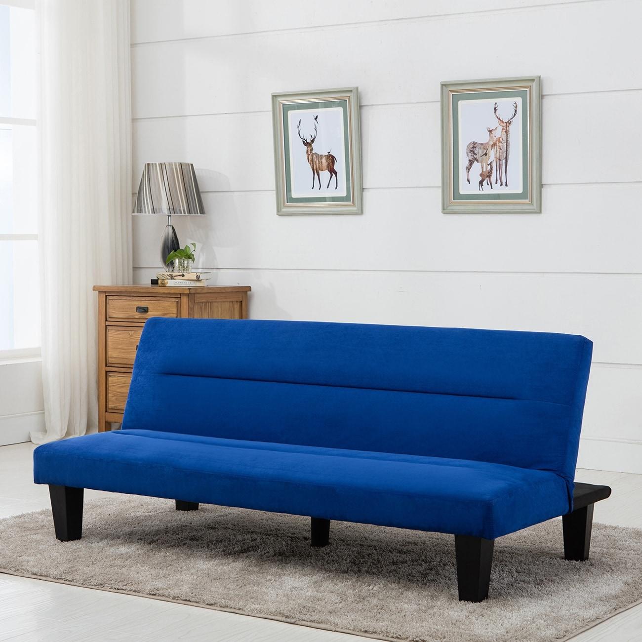 Shop Belleze Premium Convertible Sofa Futon, Microfiber Couch Bed ...