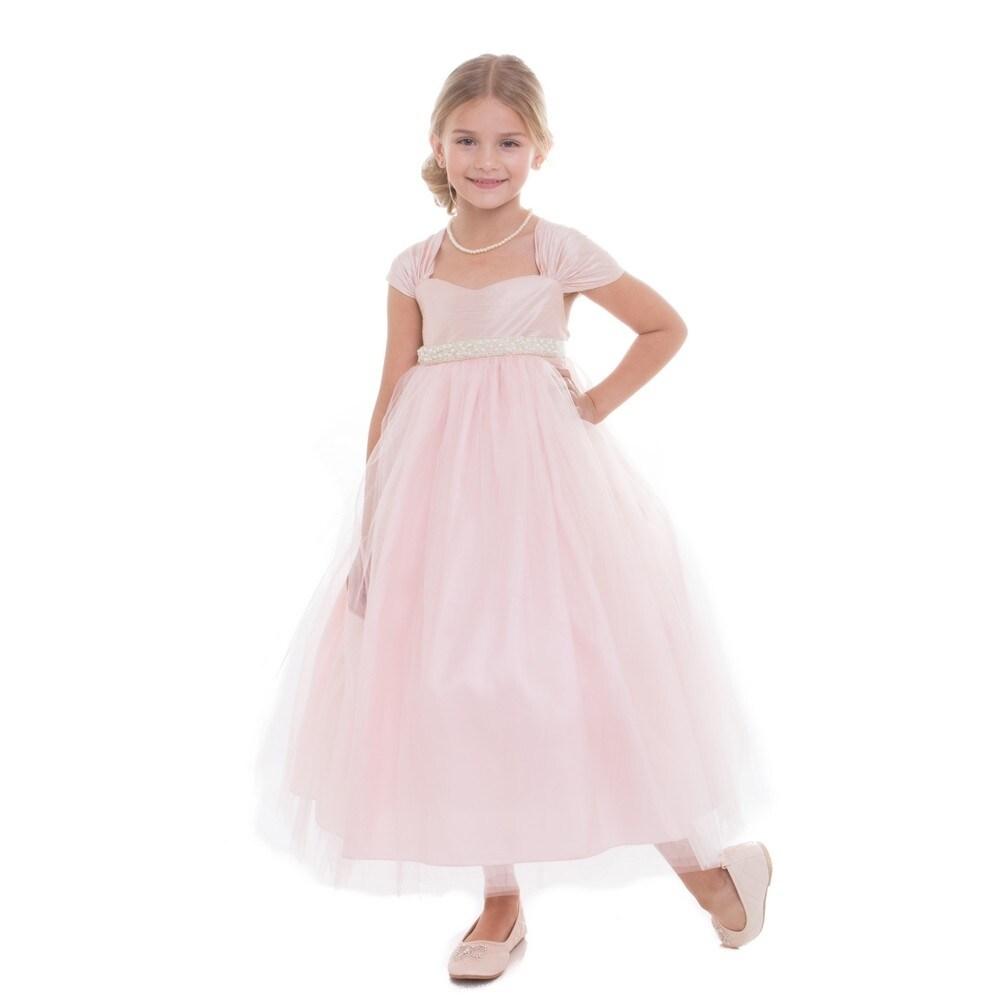 Little girls pink raw silk tulle junior bridesmaid dress free little girls pink raw silk tulle junior bridesmaid dress free shipping today overstock 24319249 ombrellifo Choice Image
