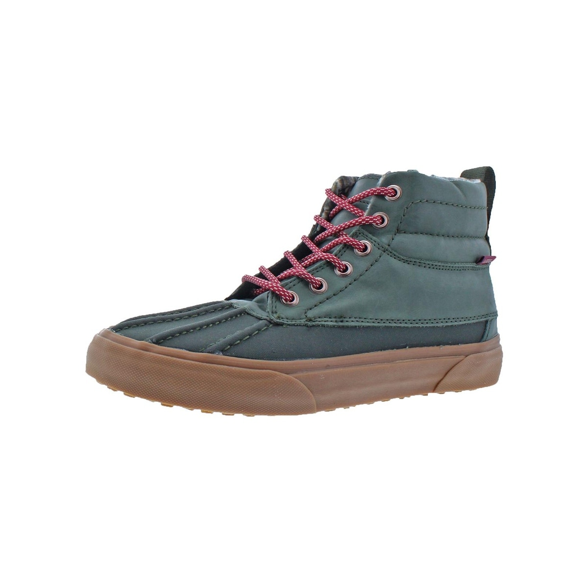 4275834a06afa0 Shop Vans Mens SK8-HI Del Pato MTE Skate Shoes Leather High-Top - Free  Shipping On Orders Over  45 - Overstock - 22119717