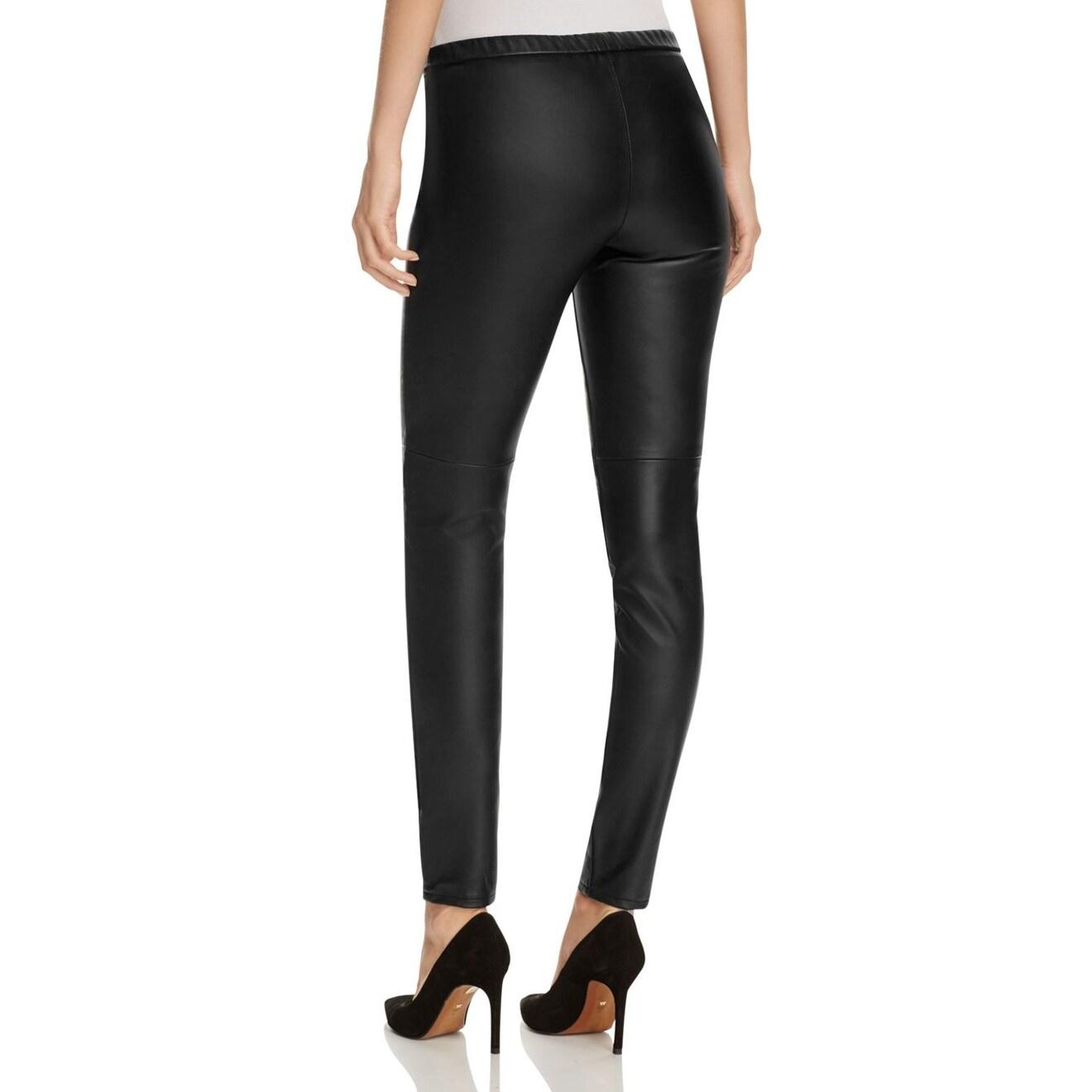 3e59c803c336 MICHAEL Michael Kors NEW Black Women Size 16 Faux-Leather Leggings Pants