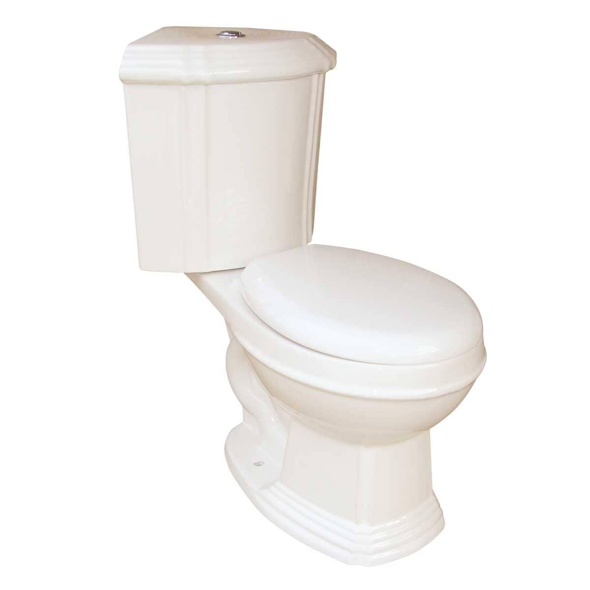 Dual Flush Round Space Saving Corner Toilet Bone China - Free ...