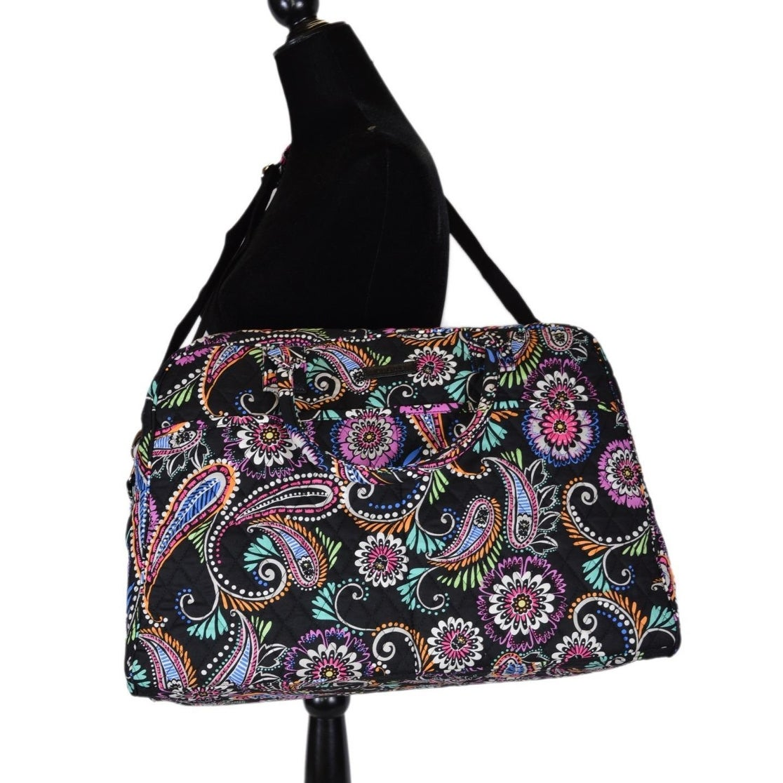 31d87c8994 Shop Vera Bradley BANDANA SWIRL Print Cotton Weekender Duffle Travel Bag  Purse - Free Shipping Today - Overstock - 21219267