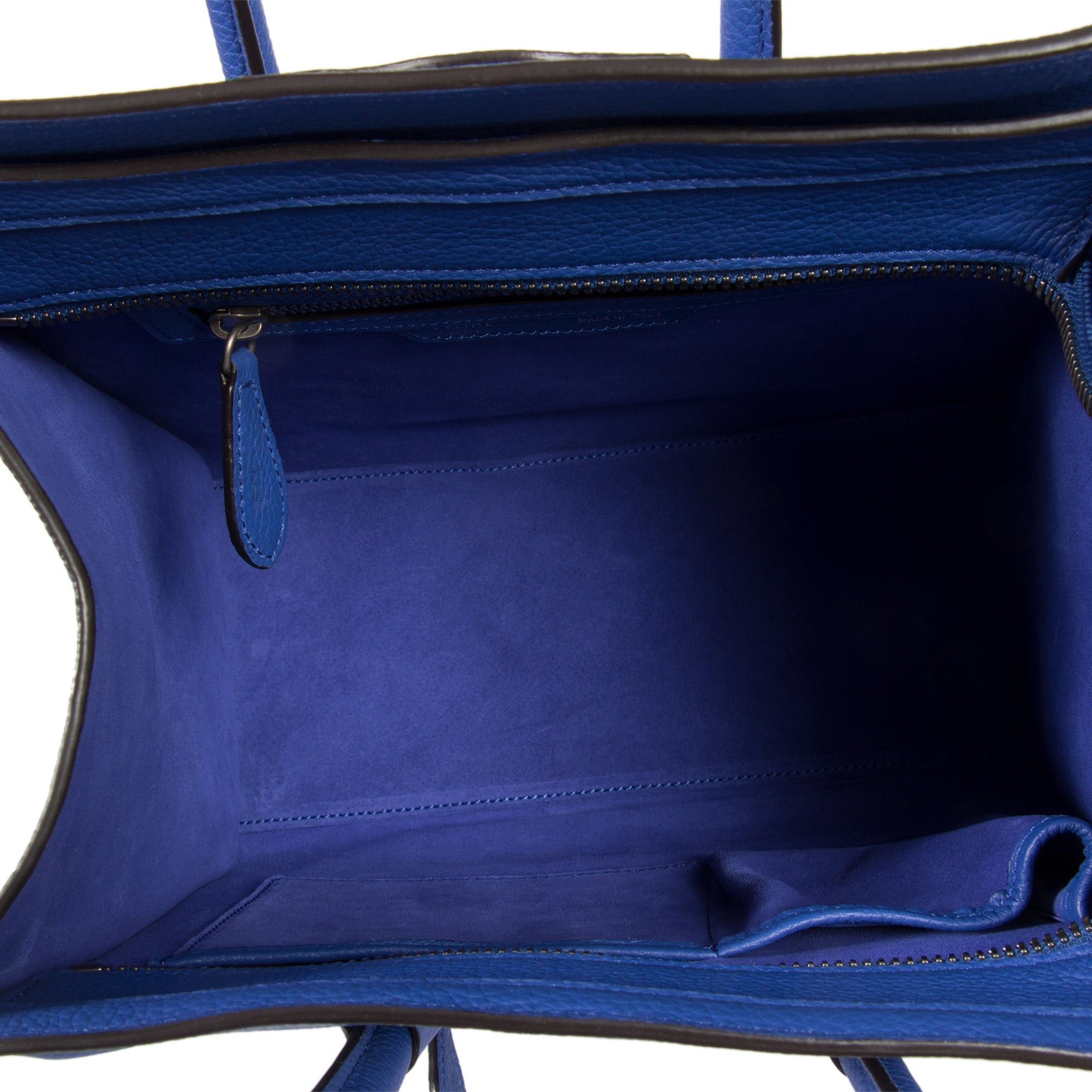 b66b2ef9eb Shop Celine Micro Luggage Tote Bag in Indigo Baby Drummed Calfskin Leather  - Free Shipping Today - Overstock - 23076823