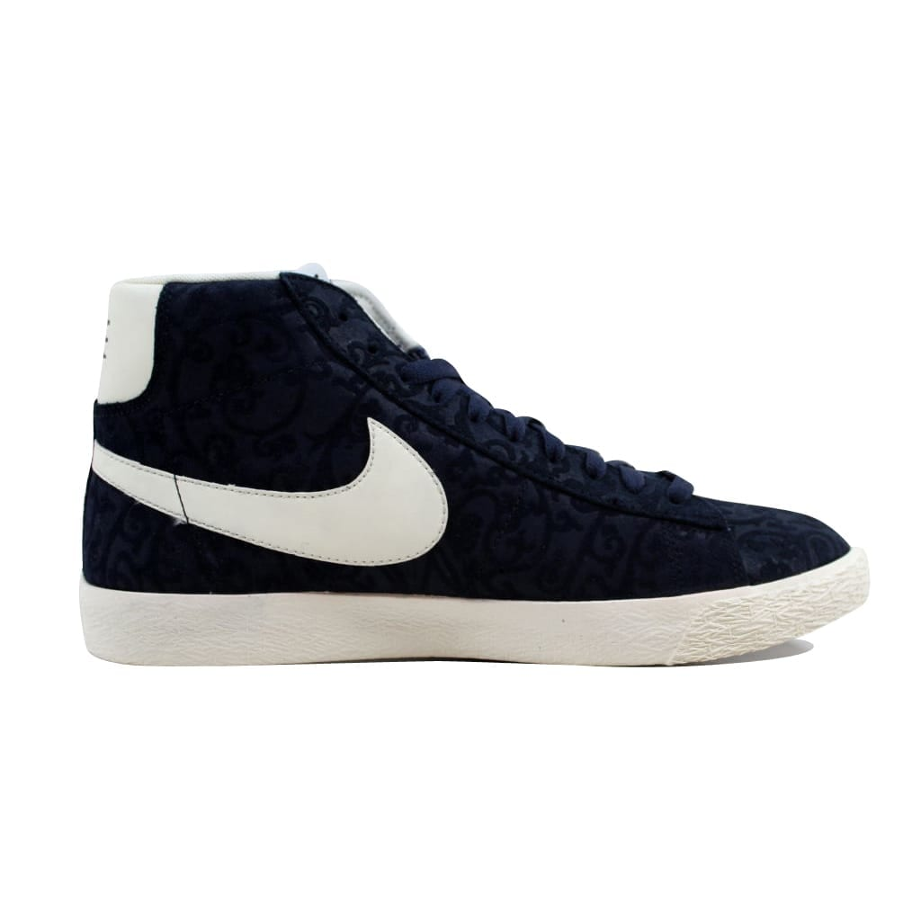 2d2547ff1d0 Shop Nike Men s Blazer Mid Premium Vintage Obsidian Sail-White-Team Orange  638261-402 - Free Shipping Today - Overstock - 22340204