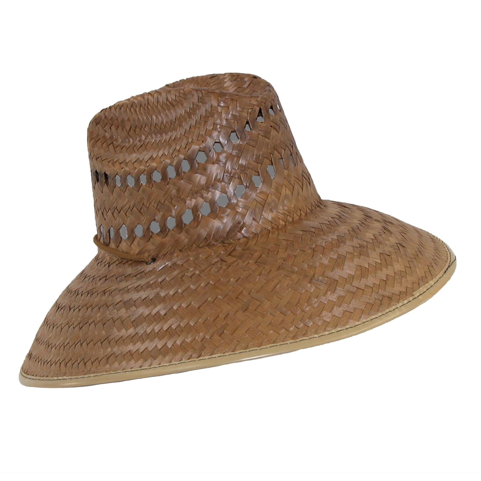 Shop CTM® Palm Straw Lifeguard Hat with Wide Brim - Free Shipping On Orders  Over  45 - Overstock - 14277652 aa1c4acea56