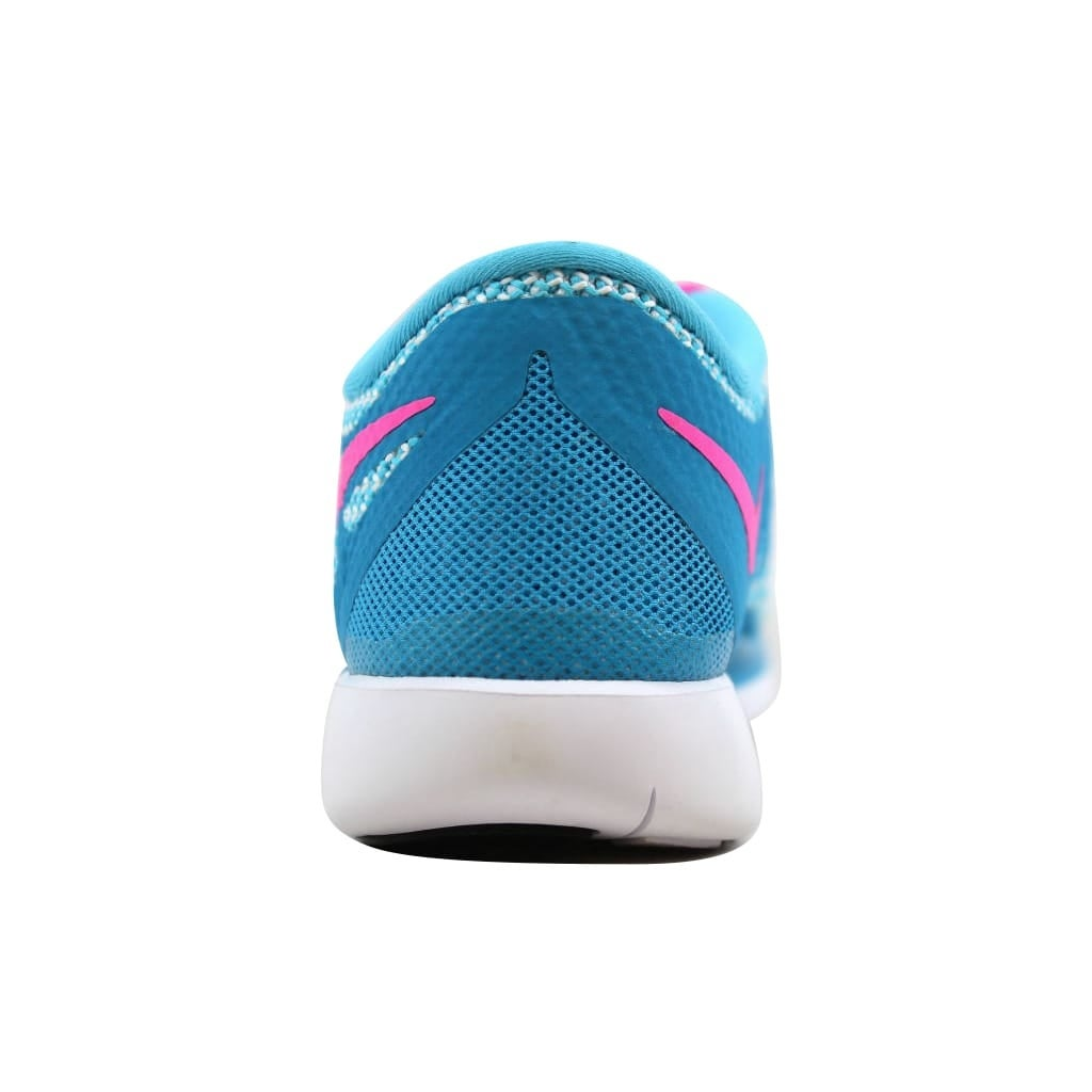 8ba9be8f15b5 Shop Nike Free 5.0 Blue Lagoon Pink Power-White-Volt 644446-401 Grade-School  - Free Shipping Today - Overstock - 21893594
