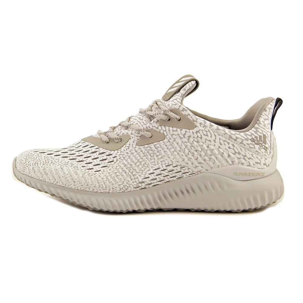 8e383c26ed4cc Shop Adidas Alphabounce AMS Women Round Toe Canvas White Running Shoe - Free  Shipping Today - Overstock - 16982925