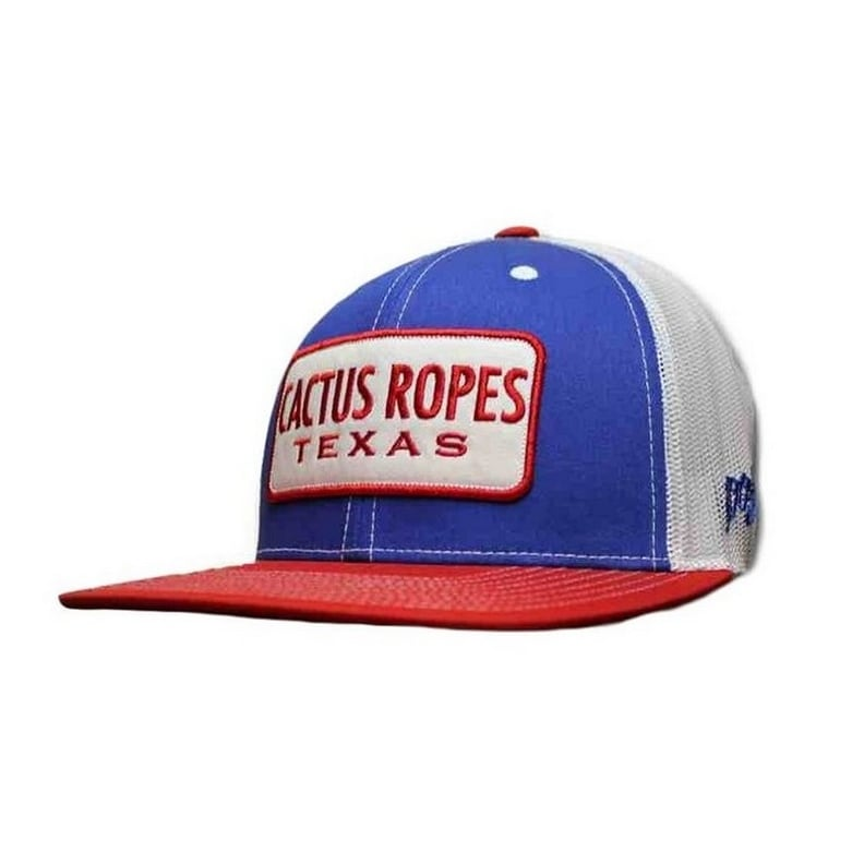 a5c84751e HOOey Hat Mens Cactus Ropes Snapback Trucker O/S Blue Red White