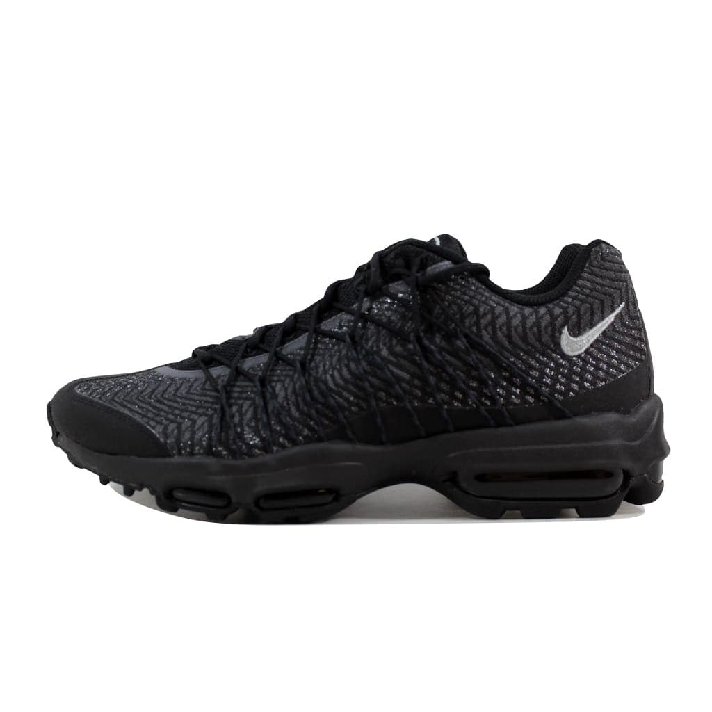 36987c3a6ddc Shop Nike Men s Air Max 95 Ultra JCRD Black Silver-Dark Grey-White 749771- 001 - Free Shipping Today - Overstock - 21893132