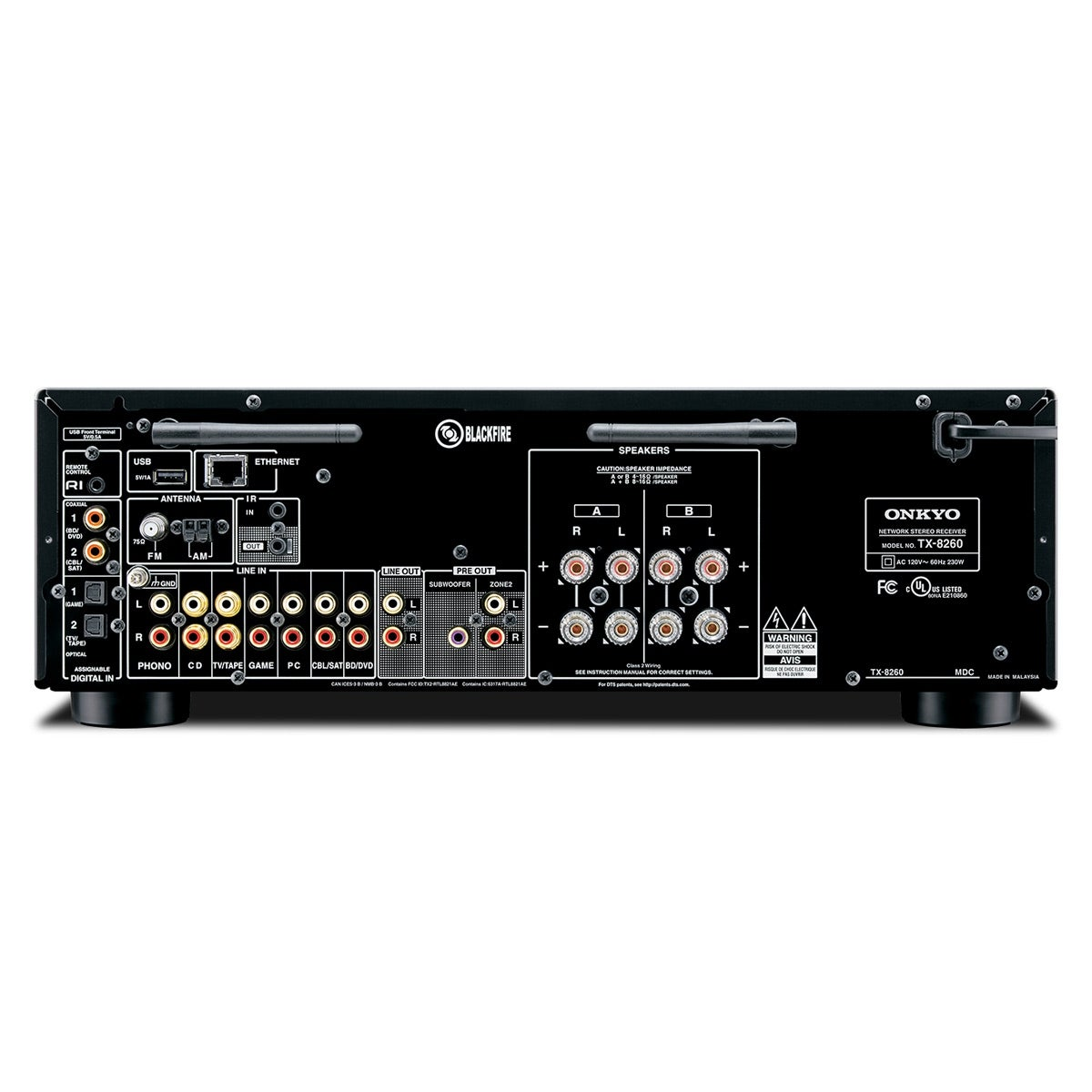 Shop Onkyo TX-8260 Network Stereo Receiver with Built-In Wi-Fi and ...