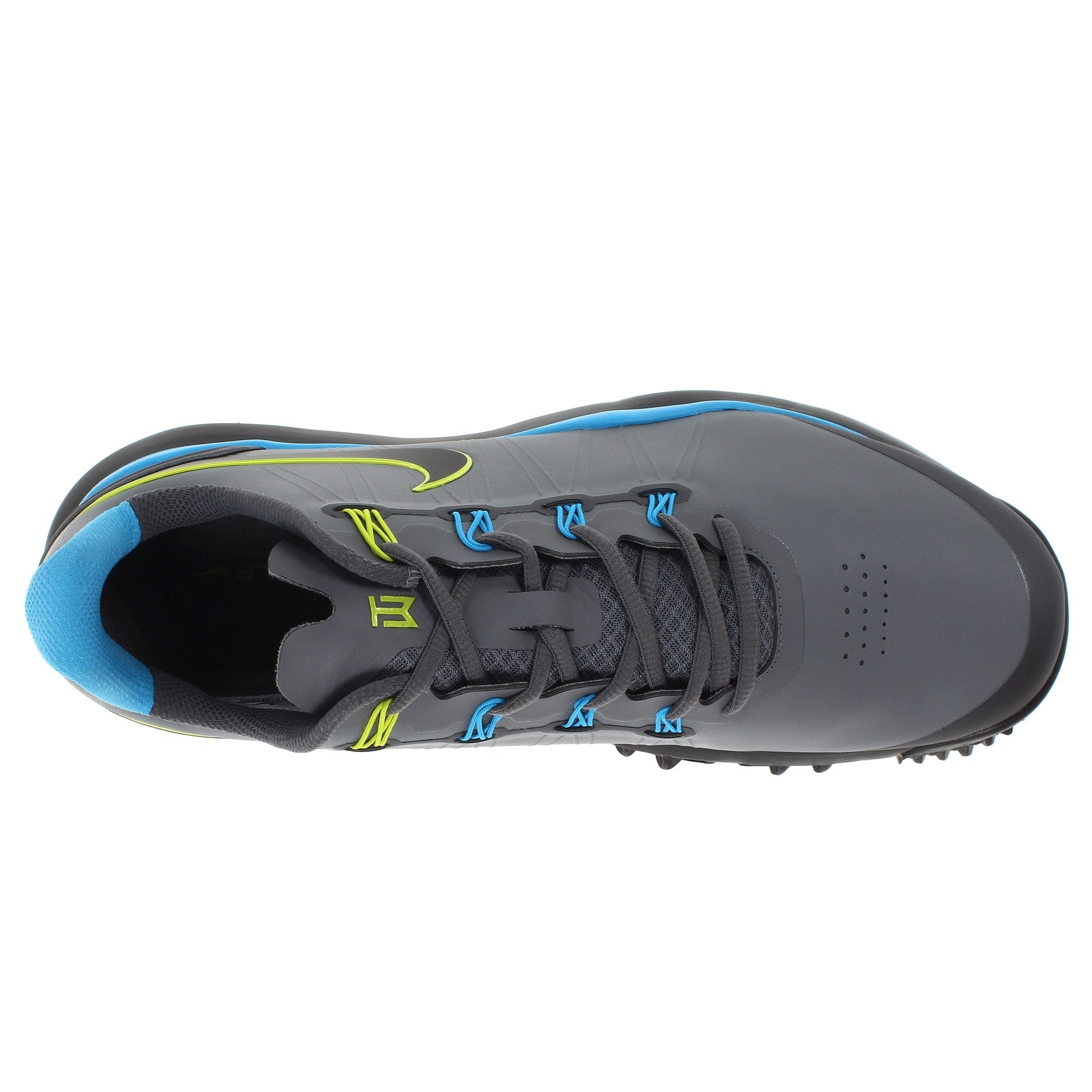 45ed31285a4 Shop Nike Men s TW 14 Cool Grey Vivid Blue Met. Dark Grey Golf Shoes  599416-002 - Free Shipping Today - Overstock - 19748351