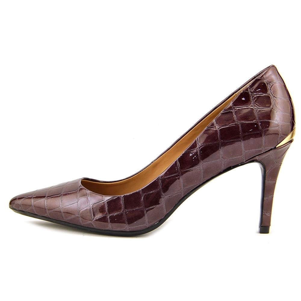 c46bc8424 Shop Calvin Klein Gayle Women Pointed Toe Synthetic Burgundy Heels - Ships  To Canada - Overstock - 17813268