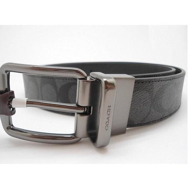180008e8ae58 Shop Coach Men s Wide Harness Cut To Size Reversible Signature Coated  Canvas Belt