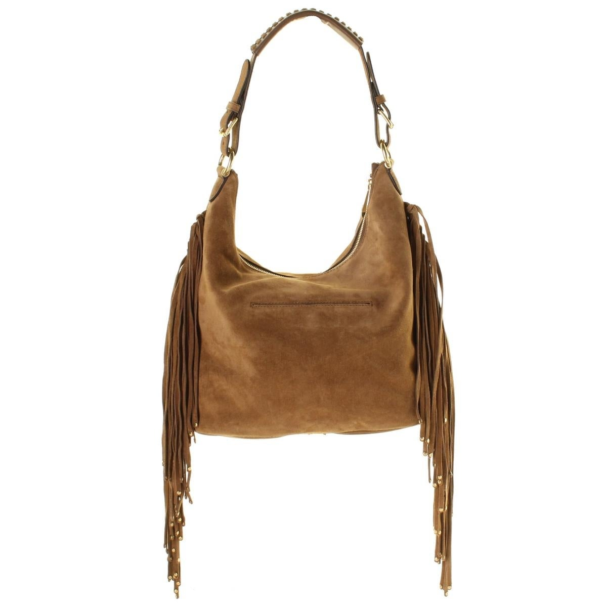 6b93d1fc30c86b Shop MICHAEL Michael Kors Womens Billy Hobo Handbag Suede Fringe - LARGE - Free  Shipping Today - Overstock - 19546328
