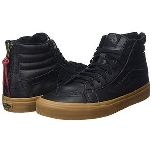 a78d6e62c2c80c Shop Vans Hiking Sk8-Hi Reissue Zip Sneakers (Black Gum) Mens Leather High  Shoes 12 - Free Shipping Today - Overstock - 20294812