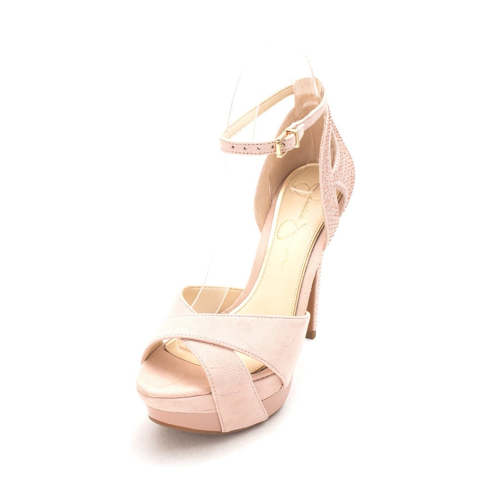 7e67d73f93c Jessica Simpson Womens Wendah Suede Open Toe Special Occasion Ankle Strap  San... - Free Shipping Today - Overstock - 23844476