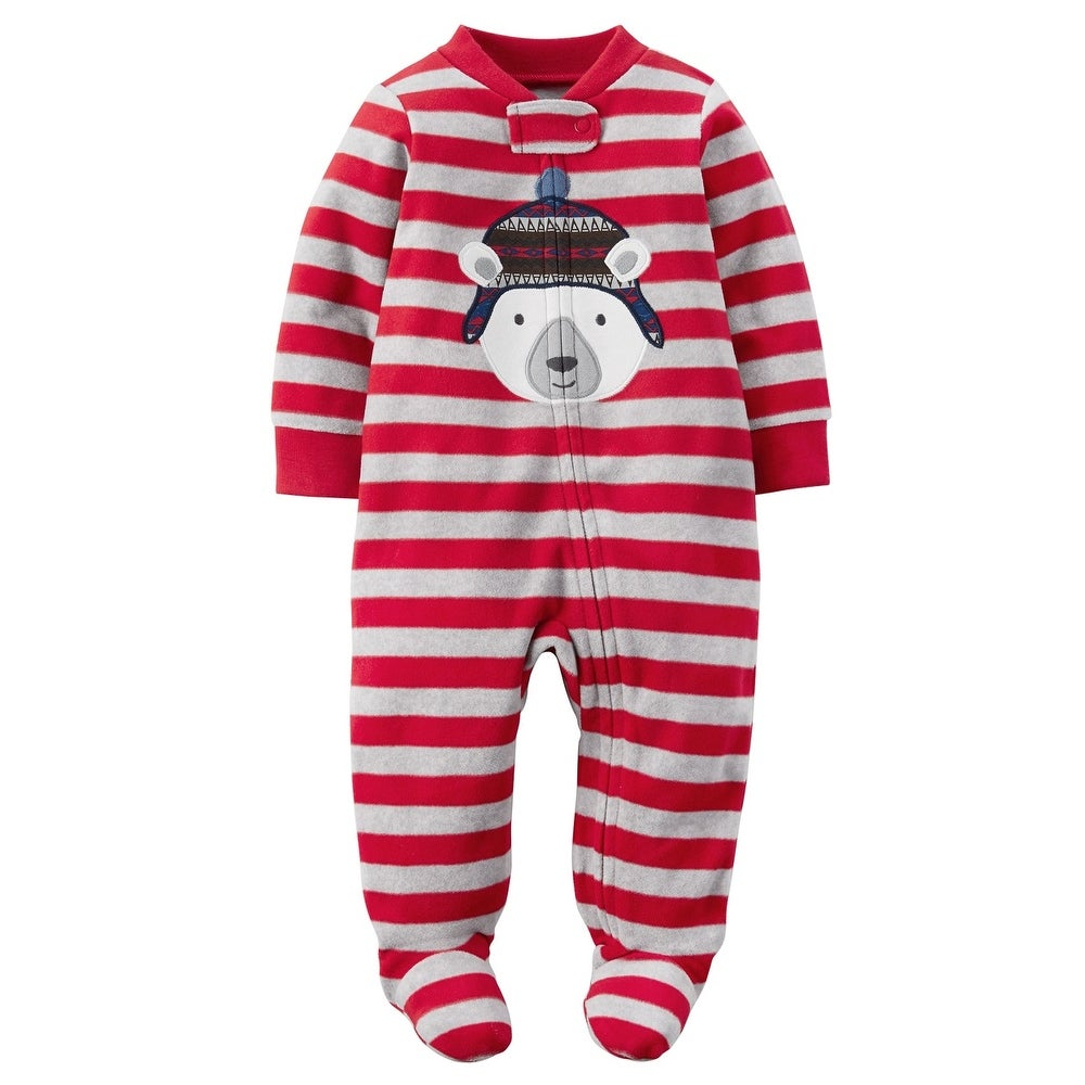 c6ef73029 Shop Carter's Baby Boys' Microfleece Sleep and Play, Red, Newborn - Free  Shipping On Orders Over $45 - Overstock - 27368959