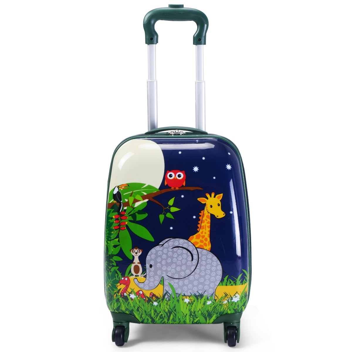 f1c1fa7bc Shop Costway 2Pc 12'' 16'' Kids Luggage Set Suitcase Backpack School Travel  Trolley ABS - Blue - Free Shipping Today - Overstock - 18299210
