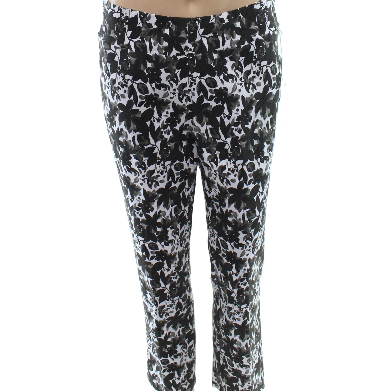 7da68ab4327 Shop Ilusion NEW Black Women s Size 8 Floral Capris Cropped Stretch Pants -  Free Shipping On Orders Over  45 - Overstock.com - 20083949