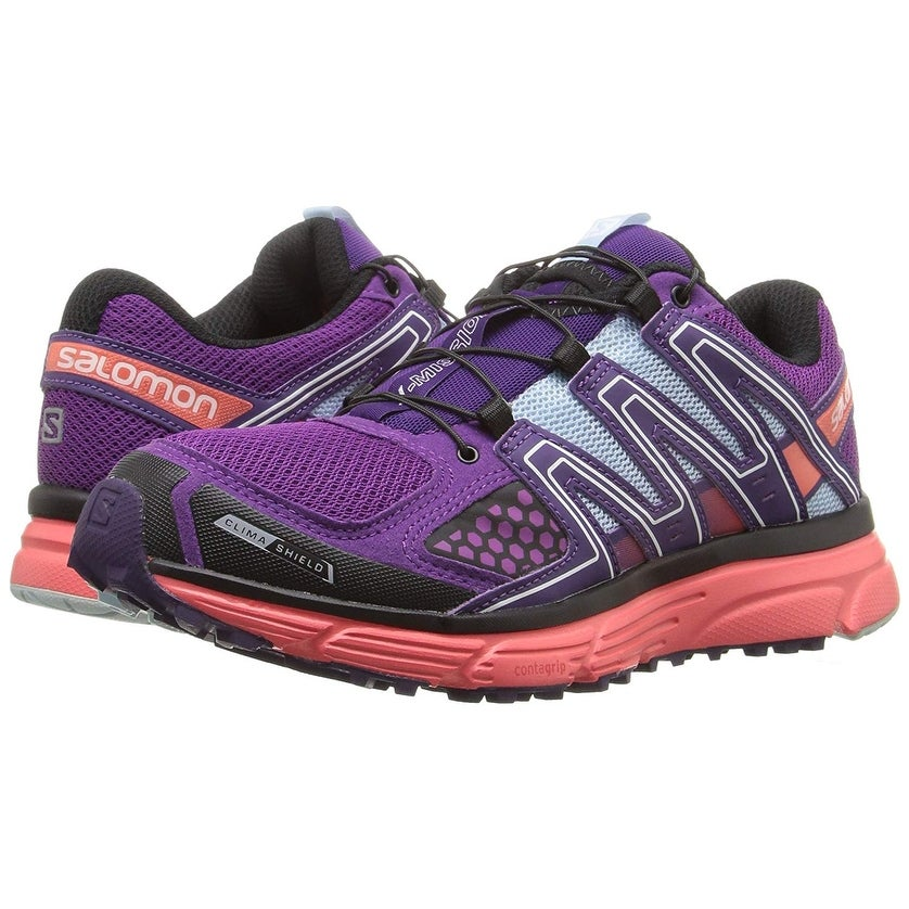 a420be2ab0a4 Shop Salomon Womens X mission 3 cs Low Top Lace Up Running Sneaker - passion  purple coral punch cristal - 5 - Free Shipping Today - Overstock.com -  25755140