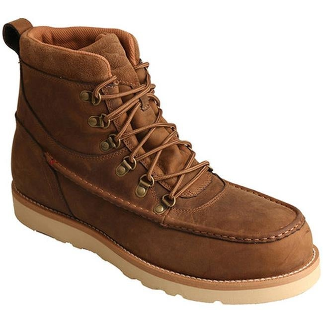 133acc88647 Twisted X Boots Men's MCAAW01 Casual Work Boot Distressed Saddle Leather