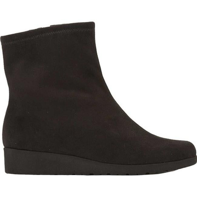 faa3323e0a4 Shop Walking Cradles Women s Feather Wedge Ankle Boot Black Suede Stretch -  Free Shipping Today - Overstock - 12316109