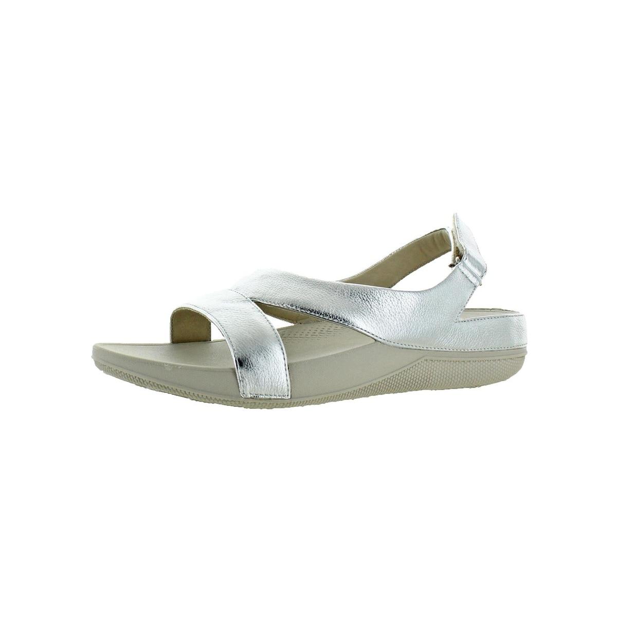 25b62f43bff1b Shop Fitflop Womens Superlight Ringer Slide Sandals Leather Slip On - 9  Medium (B