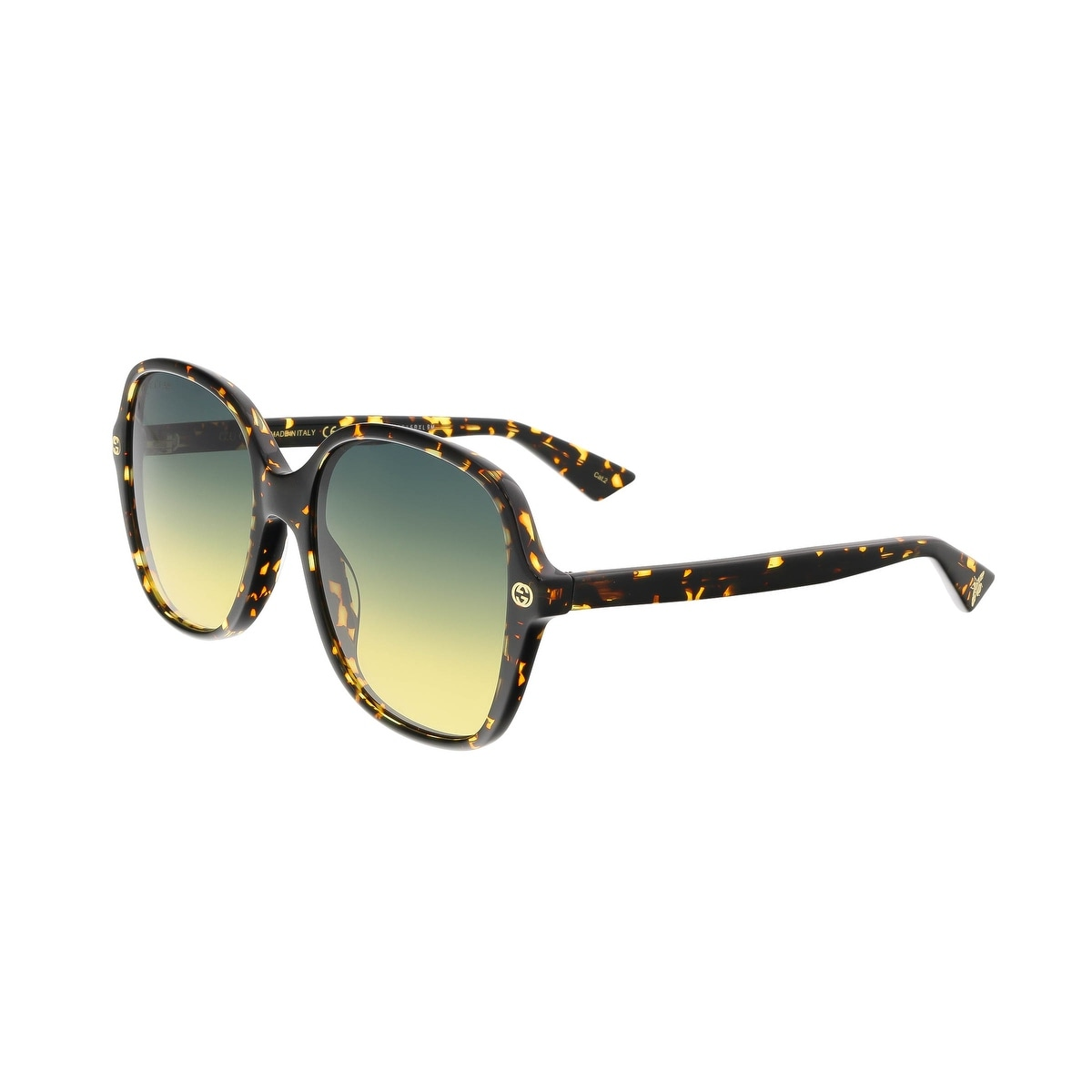 2ba6a0d4637e7 Shop Gucci GG0092S 003 Havana Square Sunglasses - 55-18-140 - Free Shipping  Today - Overstock - 16701982