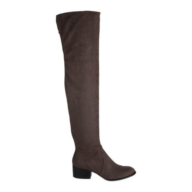 7330b7a0e2d Shop Kenneth Cole New York Women s Adelynn Thigh High Boot Asphault  Microfiber - Free Shipping Today - Overstock.com - 17639013